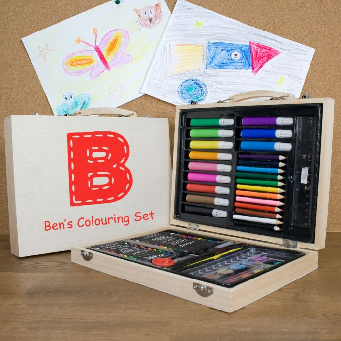 Personalised Children's Colouring Set